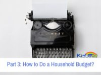 Part 3 How to Do a Household Budget