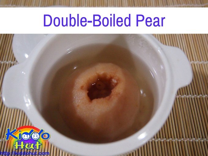 Double-Boiled Pear recipe for cough