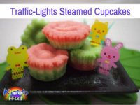 Traffic-Lights Steamed Cupcakes recipe