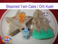 steamed Yam Cake Orh Kueh for toddlers
