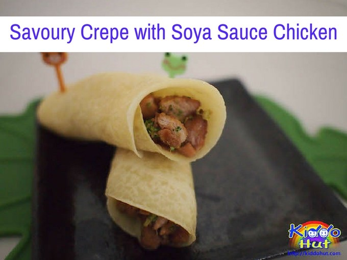 Savoury Crepe with Soya Sauce Chicken