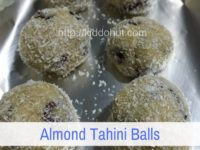 Almond Tahini Balls recipe