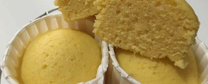 Steamed Corn Cupcakes