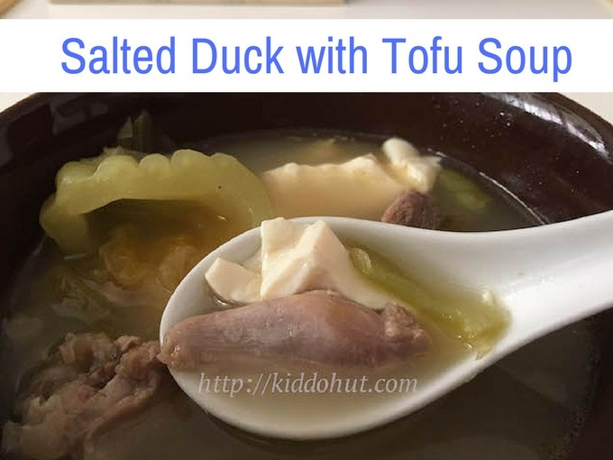 salted duck with tofu soup